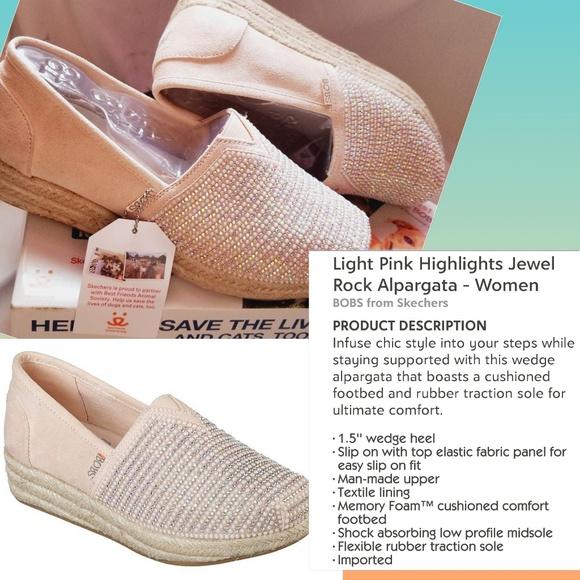 dcac7dae25a 🆕BOBS x Skechers Highlights Jewel Alpargata Wedge